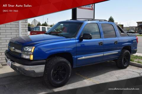 2003 Chevrolet Avalanche for sale at All Star Auto Sales in Pleasant Grove UT