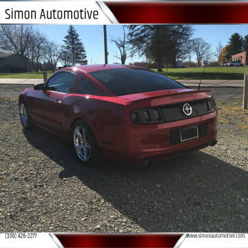 2013 Ford Mustang for sale at Simon Automotive in East Palestine OH
