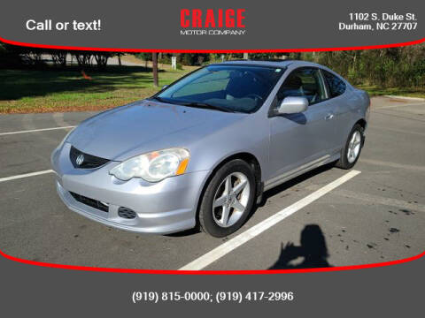 2003 Acura RSX for sale at CRAIGE MOTOR CO in Durham NC