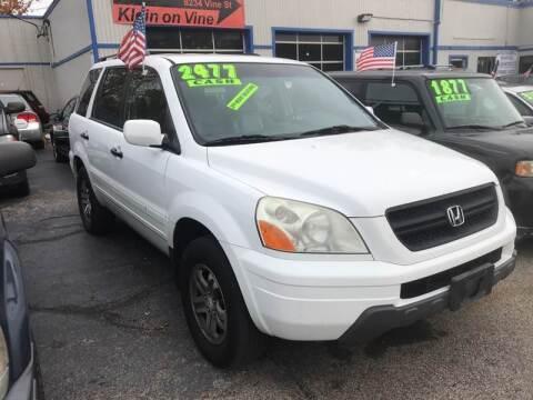 2003 Honda Pilot for sale at Klein on Vine in Cincinnati OH