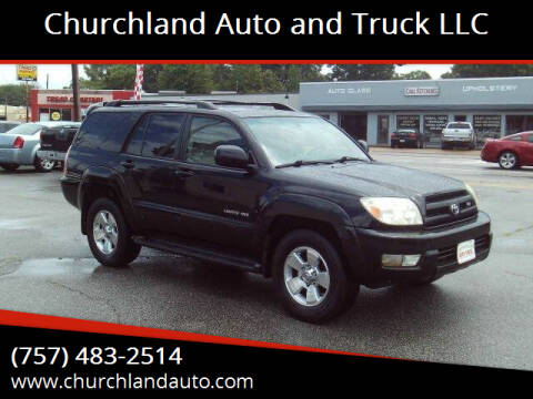 2005 Toyota 4Runner for sale at Churchland Auto and Truck LLC in Portsmouth VA