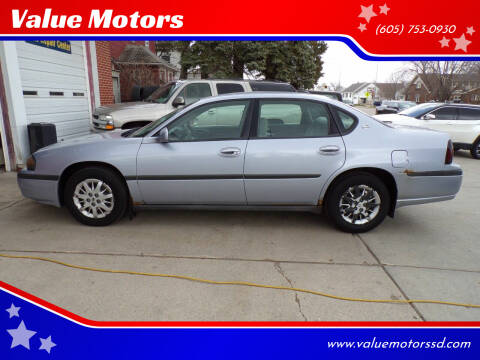 2005 Chevrolet Impala for sale at Value Motors in Watertown SD