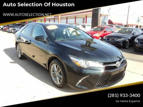 2016 Toyota Camry for sale at Auto Selection of Houston in Houston TX