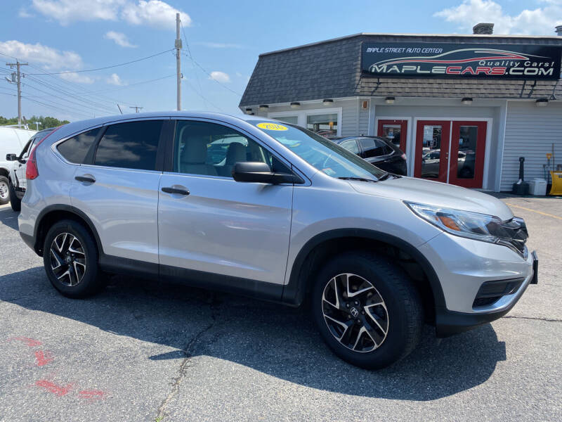 2016 Honda CR-V for sale at Maple Street Auto Center in Marlborough MA