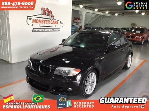 2012 BMW 1 Series for sale at Monster Cars in Pompano Beach FL