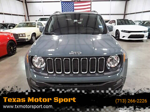 2018 Jeep Renegade for sale at Texas Motor Sport in Houston TX