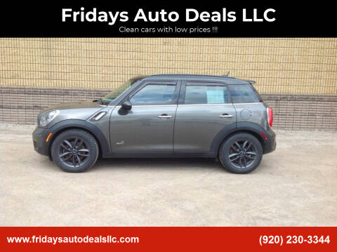 2014 MINI Countryman for sale at Fridays Auto Deals LLC in Oshkosh WI