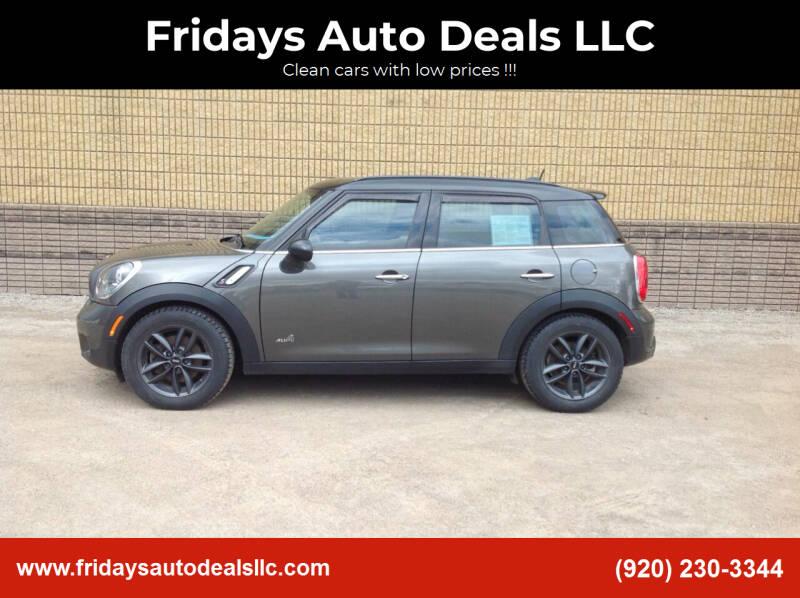 2014 MINI Countryman for sale at Fridays Auto Deals LLC in Oshkosh WI