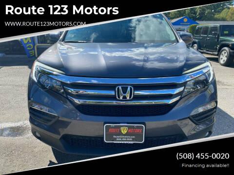 2018 Honda Pilot for sale at Route 123 Motors in Norton MA