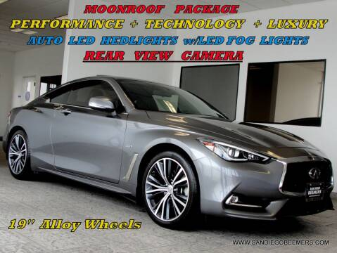 2018 Infiniti Q60 for sale at SAN DIEGO BEEMERS in San Diego CA
