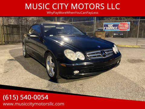 2005 Mercedes-Benz CLK for sale at MUSIC CITY MOTORS LLC in Nashville TN