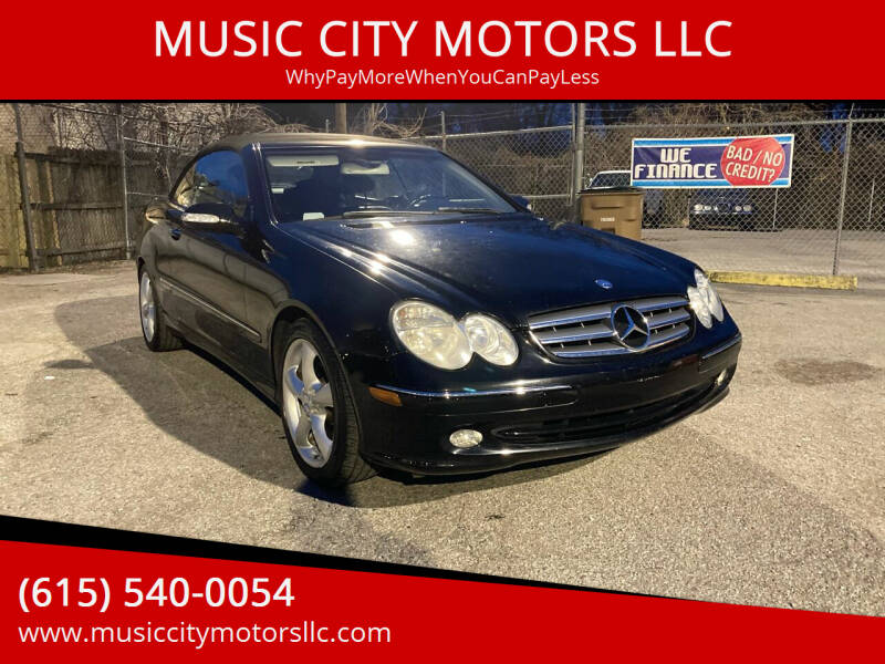 2005 Mercedes-Benz CLK for sale at MUSIC CITY MOTORS LLC in Nashville TN