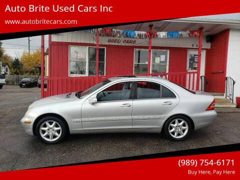 2002 Mercedes-Benz C-Class for sale at Auto Brite Used Cars Inc in Saginaw MI