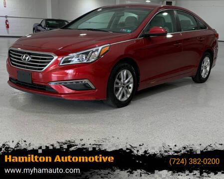 2015 Hyundai Sonata for sale at Hamilton Automotive in North Huntingdon PA