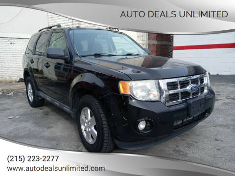 2010 Ford Escape for sale at AUTO DEALS UNLIMITED in Philadelphia PA