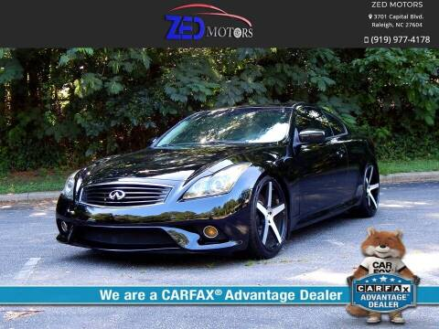2012 Infiniti G37 Coupe for sale at Zed Motors in Raleigh NC