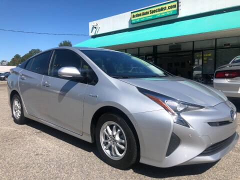 2017 Toyota Prius for sale at Action Auto Specialist in Norfolk VA