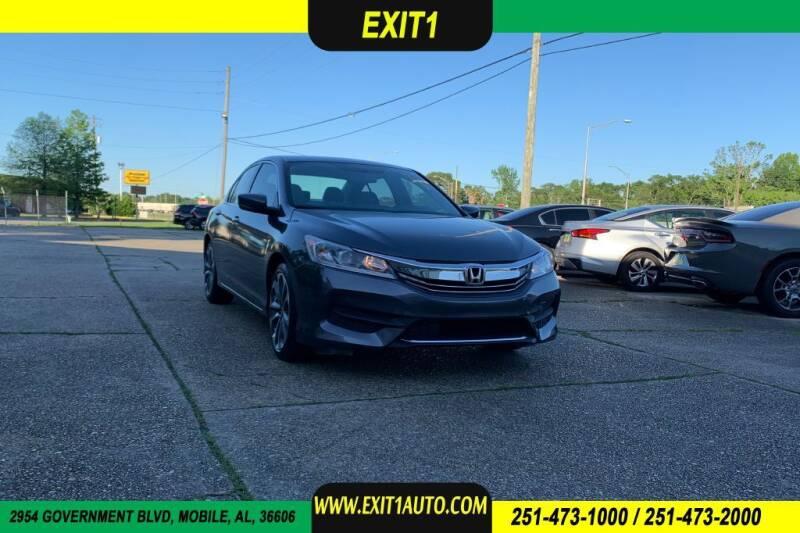 2017 Honda Accord for sale at Exit 1 Auto in Mobile AL