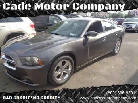 2013 Dodge Charger for sale at Cade Motor Company in Lawrence Township NJ