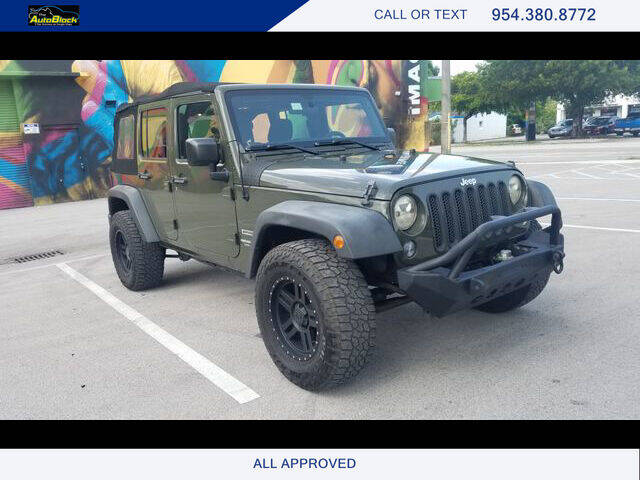 2015 Jeep Wrangler Unlimited for sale at The Autoblock in Fort Lauderdale FL