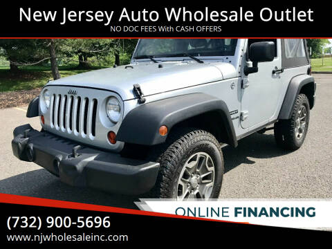 2012 Jeep Wrangler for sale at New Jersey Auto Wholesale Outlet in Union Beach NJ