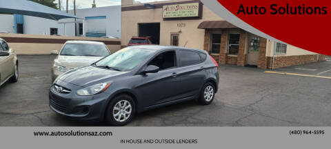 2012 Hyundai Accent for sale at Auto Solutions in Mesa AZ