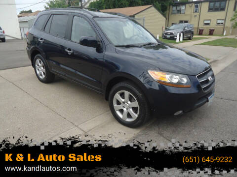 2009 Hyundai Santa Fe for sale at K & L Auto Sales in Saint Paul MN