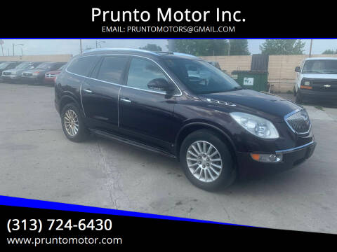 2008 Buick Enclave for sale at Prunto Motor Inc. in Dearborn MI