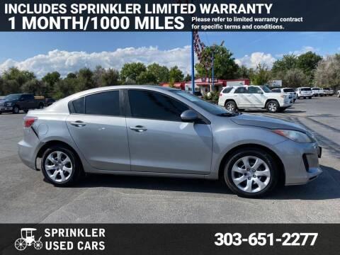 2013 Mazda MAZDA3 for sale at Sprinkler Used Cars in Longmont CO