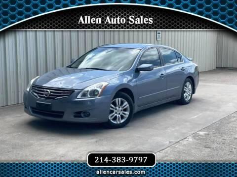 2012 Nissan Altima for sale at Allen Auto Sales in Dallas TX