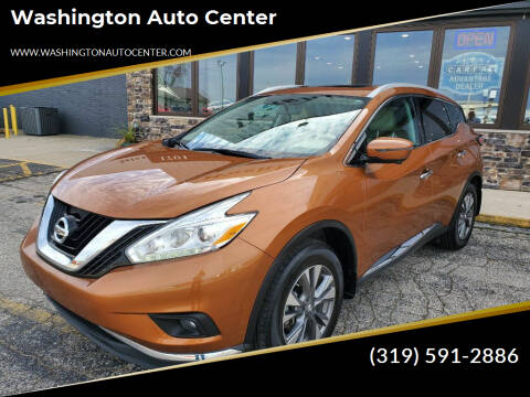 2017 Nissan Murano for sale at Washington Auto Center in Washington IA