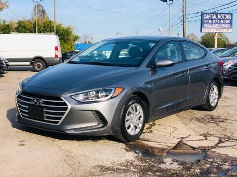 2017 Hyundai Elantra for sale at Capital Motors in Raleigh NC
