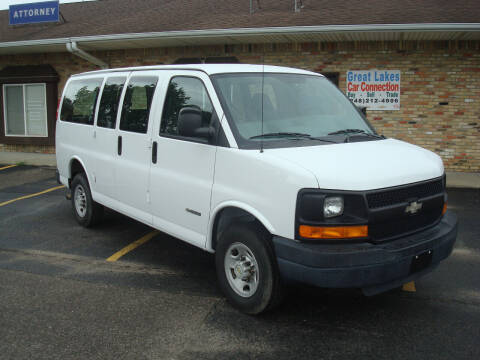 2005 Chevrolet Express Passenger for sale at Great Lakes Car Connection in Metamora MI