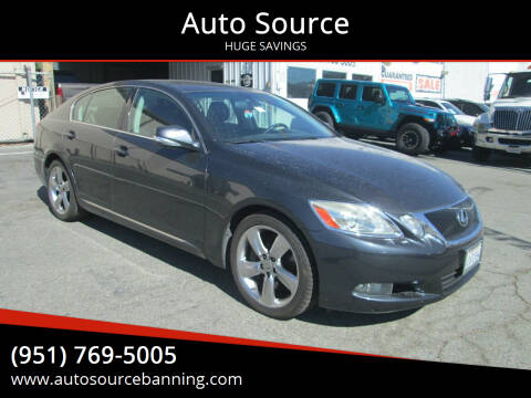 2008 Lexus GS 350 for sale at Auto Source in Banning CA