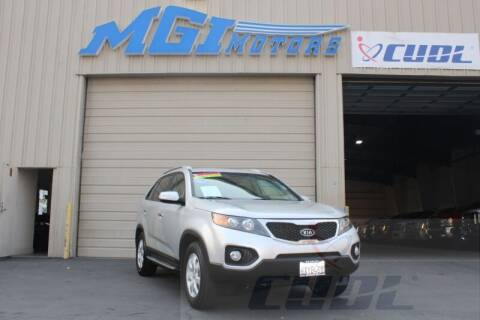 2013 Kia Sorento for sale at MGI Motors in Sacramento CA