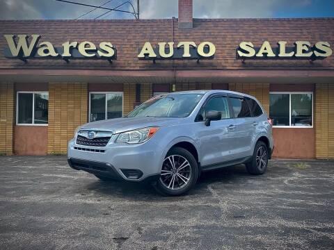 2014 Subaru Forester for sale at Wares Auto Sales INC in Traverse City MI