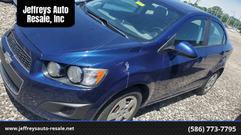 2013 Chevrolet Sonic for sale at Jeffreys Auto Resale, Inc in Clinton Township MI