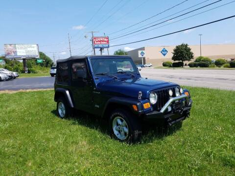 2001 Jeep Wrangler for sale at Country Auto Sales in Boardman OH