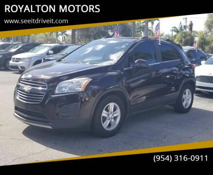 2016 Chevrolet Trax for sale at ROYALTON MOTORS in Plantation FL
