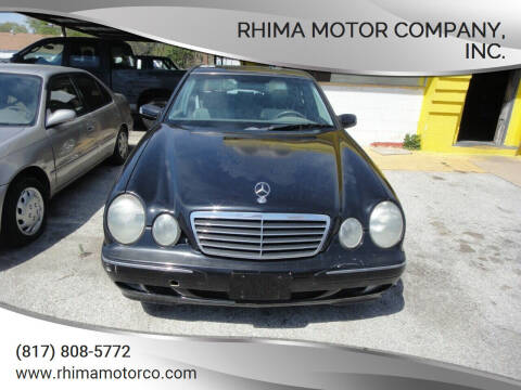 2000 Mercedes-Benz E-Class for sale at Rhima Motor Company, Inc. in Haltom City TX