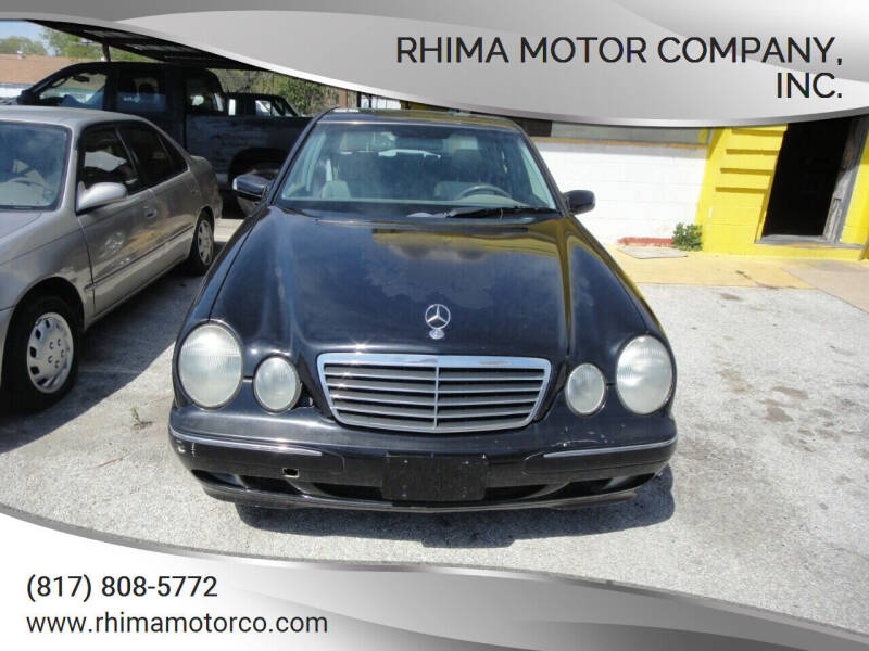 2000 Mercedes-Benz E-Class for sale at Rhima Motor Company, Inc. in Haltom City TX