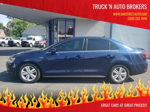2013 Volkswagen Jetta for sale at Truck 'N Auto Brokers in Pocatello ID