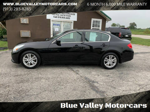 2010 Infiniti G37 Sedan for sale at Blue Valley Motorcars in Stilwell KS