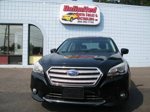 2015 Subaru Legacy for sale at Unlimited Auto Sales & Detailing, LLC in Windsor Locks CT