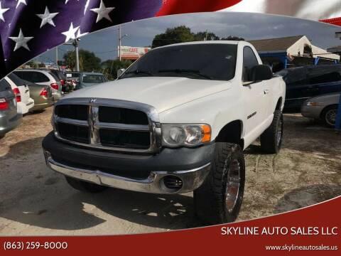 2004 Dodge Ram Pickup 1500 for sale at SKYLINE AUTO SALES LLC in Winter Haven FL