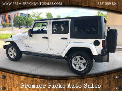 2012 Jeep Wrangler Unlimited for sale at Premier Picks Auto Sales in Bettendorf IA