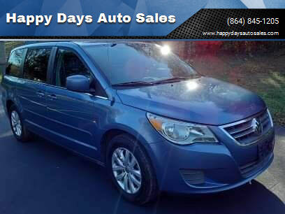 2012 Volkswagen Routan for sale at Happy Days Auto Sales in Piedmont SC