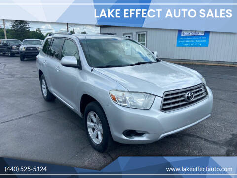 2010 Toyota Highlander for sale at Lake Effect Auto Sales in Chardon OH
