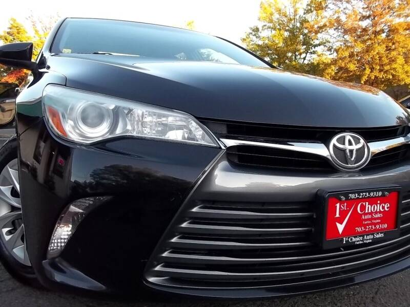 2015 Toyota Camry for sale at 1st Choice Auto Sales in Fairfax VA