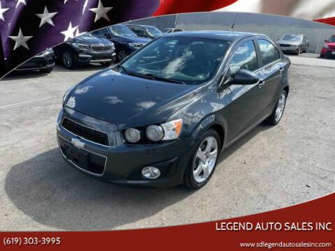 2013 Chevrolet Sonic for sale at Legend Auto Sales Inc in Lemon Grove CA